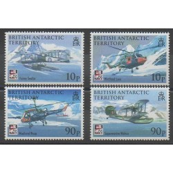 British Antarctic Territory - 2008 - Nb 488/491 - Planes - Helicopters - Polar
