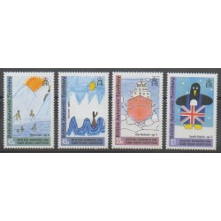 British Antarctic Territory - 2006 - Nb 411/414 - Children's drawings