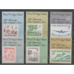 Cocos (Island) - 1988 - Nb 182/187 - Stamps on stamps