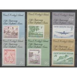 Cocos (Iles) - 1988 - No 182/187 - Timbres sur timbres