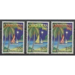 Cocos (Iles) - 1989 - No 207/209 - Noël