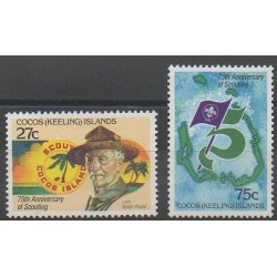 Cocos (Island) - 1982 - Nb 84/85 - Scouts