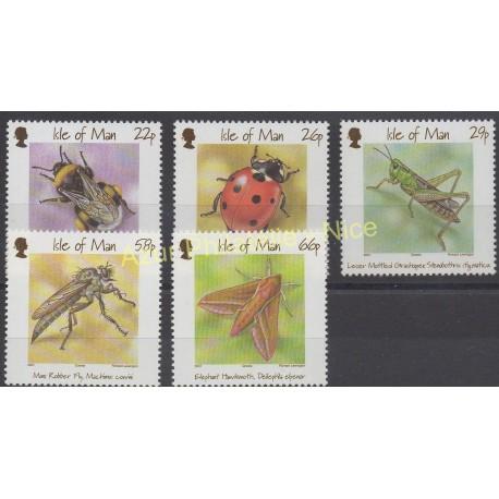 Man (Ile de) - 2001 - No 945/949 - Insectes