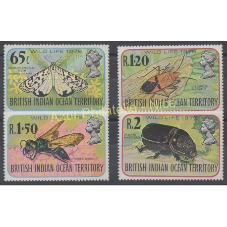 British Indian Ocean Territory - 1976 - Nb 86/89 - Insects