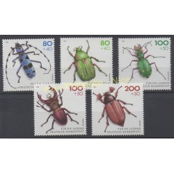 Germany - 1993 - Nb 1497/1501 - Insects