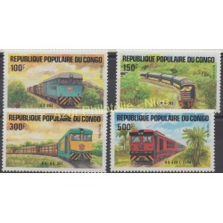 Congo (République du) - 1984 - No 726/729 - Trains