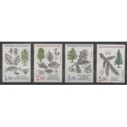 France - Poste - 1985 - Nb 2384/2387 - Trees