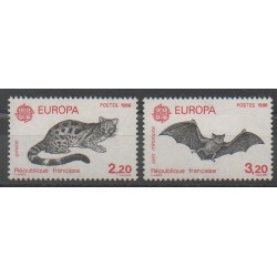 France - Poste - 1986 - Nb 2416/2417 - Cats - Mamals - Europa