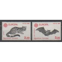 France - Poste - 1986 - No 2416/2417 - Chats - Mammifères - Europa