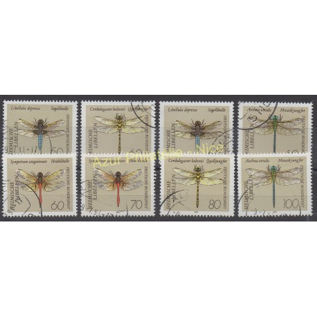 Germany - 1991 - Nb 1373/1380 - Insects - Used