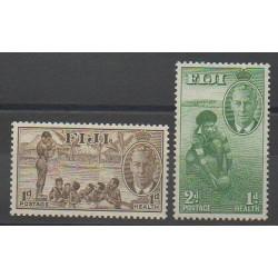 Fidji - 1951 - No 133/134 - Santé ou Croix-Rouge - Sports divers