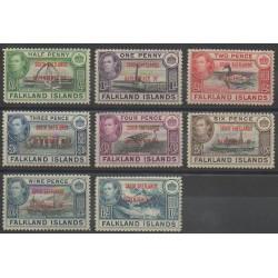 Falkland-Shetlands du Sud - 1944 - No 25/32