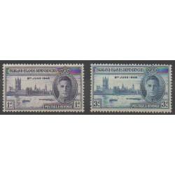 Falkland-Dépendances - 1946 - No 42/43