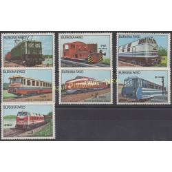 Burkina Faso - 1985 - No 636/658 - PA 294/297 - Trains