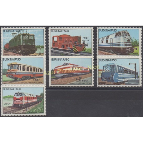 Burkina Faso - 1985 - Nb 636/658 - PA 294/297 - Trains