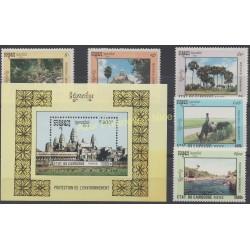 Cambodge - 1992 - No 1071/1074 - BF 94 - Environnement
