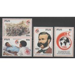 Fidji - 1989 - No 595/598 - Santé ou Croix-Rouge