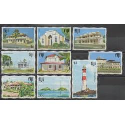 Fidji - 1991 - No 637/645 - Monuments - Phares