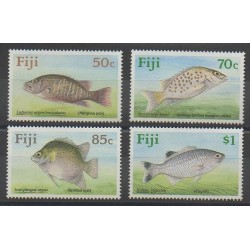 Fiji - 1990 - Nb 617/620 - Sea animals