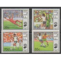Fidji - 1989 - No 607/610 - Coupe du monde de football