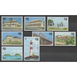 Fidji - 1992 - No 689/696 - Monuments - Phares - Ponts