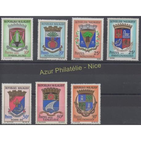 Madagascar - 1967 - No 437A/440 - Armoiries