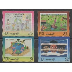 Fiji - 1996 - Nb 791/794 - Childhood - Children's drawings