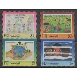 Fidji - 1996 - No 791/794 - Enfance - Dessins d'enfants