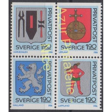 Sweden - 1986 - Nb 1368/1371