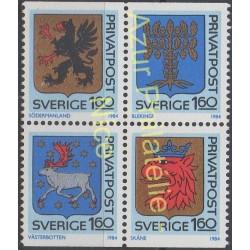 Suède - 1984 - No 1260/1263 - Armoiries