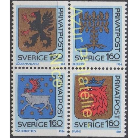Sweden - 1984 - Nb 1260/1263