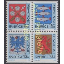 Suède - 1985 - No 1312/1315 - Armoiries