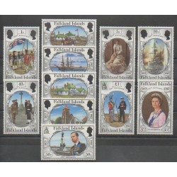 Falkland - 1983 - Nb 376/386 - Various Historics Themes