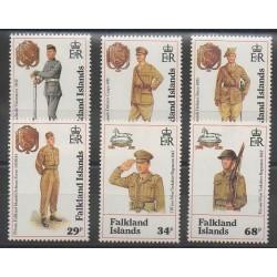 Falkland - 1992 - No 584/589 - Costumes Uniformes