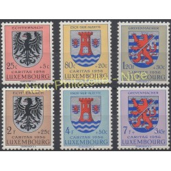 Luxembourg - 1956 - No 520/525 - Armoiries