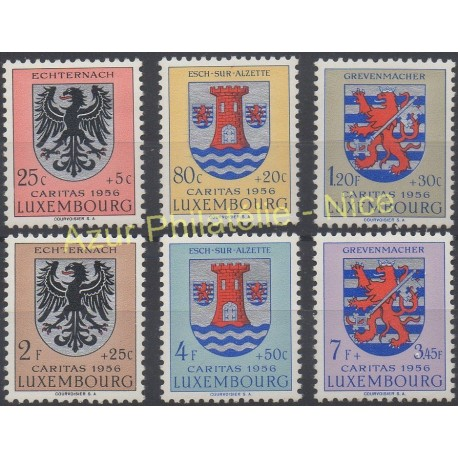 Luxembourg - 1956 - Nb 520/525