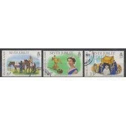 Falkland - 1977 - No 248/250 - Royauté - Principauté - Oblitéré