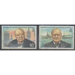 Falkland - 1974 - No 229/230 - Célébrités - Oblitéré