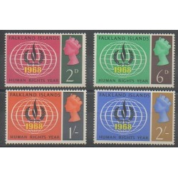 Falkland - 1968 - Nb 156/159 - Human Rights - Mint hinged