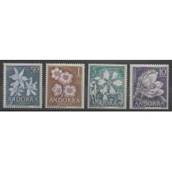 Spanish Andorra - 1966 - Nb 61/64 - Flowers