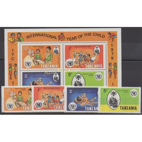 Tanzania - 1979 - Nb 125/128 - BF 18 - Childhood