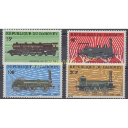Dahomey - 1974 - No 343/346 - Trains