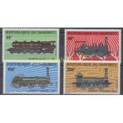 Dahomey - 1974 - No 343/346 - Trains