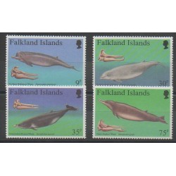 Falkland - 1996 - No 685/688 - Mammifères - Animaux marins
