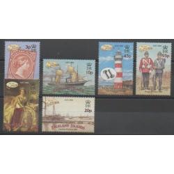 Falkland - 2001 - No 793/798 - Navigation - Phares - Timbres sur timbres