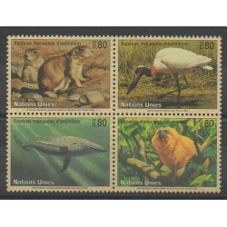 United Nations (UN - Geneva) - 1994 - Nb 265/268 - Endangered species - WWF