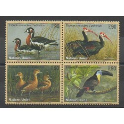 United Nations (UN - Geneva) - 2003 - Nb 478/481 - Birds - Endangered species - WWF