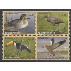 Nations Unies (ONU - Vienne) - 2003 - No 401/404 - Oiseaux - Espèces menacées - WWF
