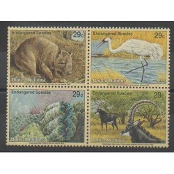 United Nations (UN - New York) - 1993 - Nb 628/631 - Endangered species - WWF