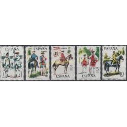 Espagne - 1975 - No 1890/1894 - Chevaux - Histoire militaire